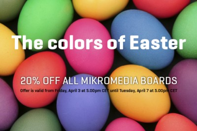 Special Easter offer — 20% OFF all mikromedia boards