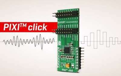 PIXI™ click - mixed-signal data converter