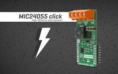 MIC24055 click - step down the voltage