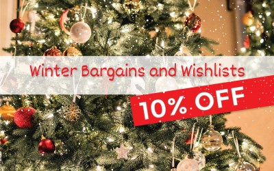 Holiday special offer - 10% discount on everything in the shop