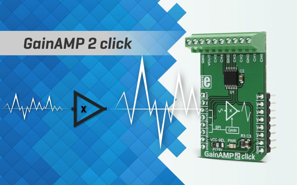 GainAMP 2 click - signal amplifier with programmable gain