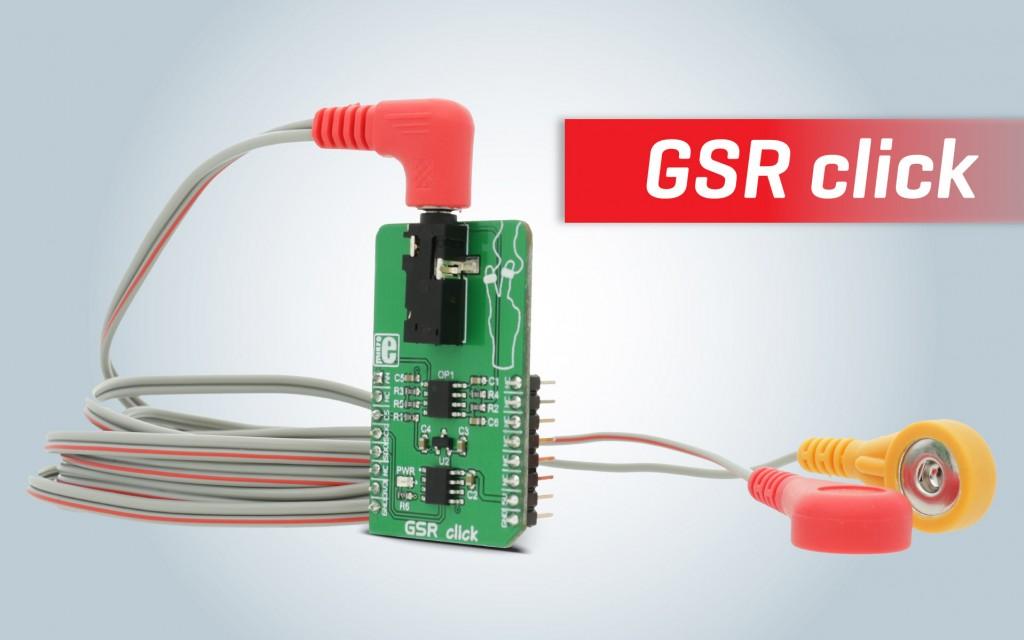 GSR click - for measuring electrodermal activity
