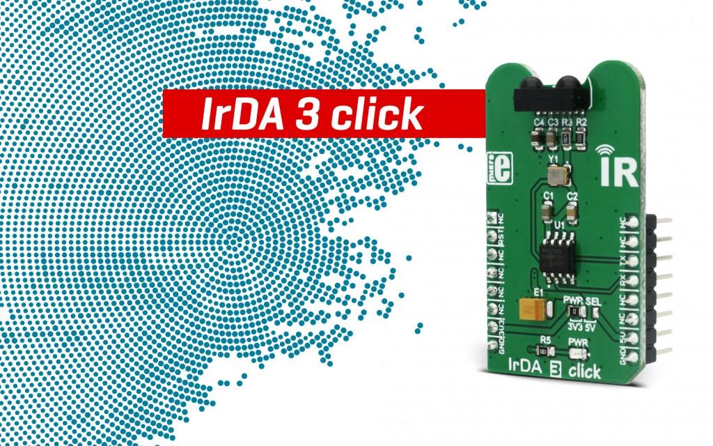 IrDA 3 click - an intelligent IR transceiver device