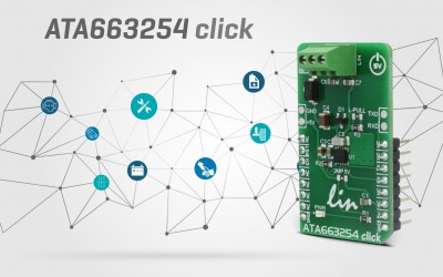 ATA663254 click - integrated LIN transceiver device