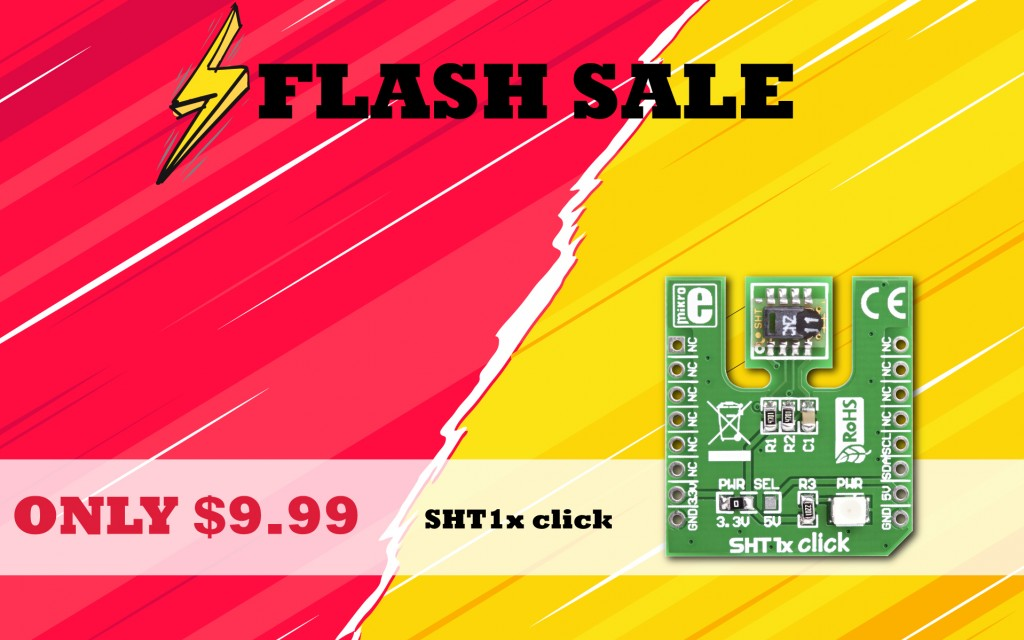 FLASH SALE - only $9.99 for SHT1x click, a temperature and humidity sensor