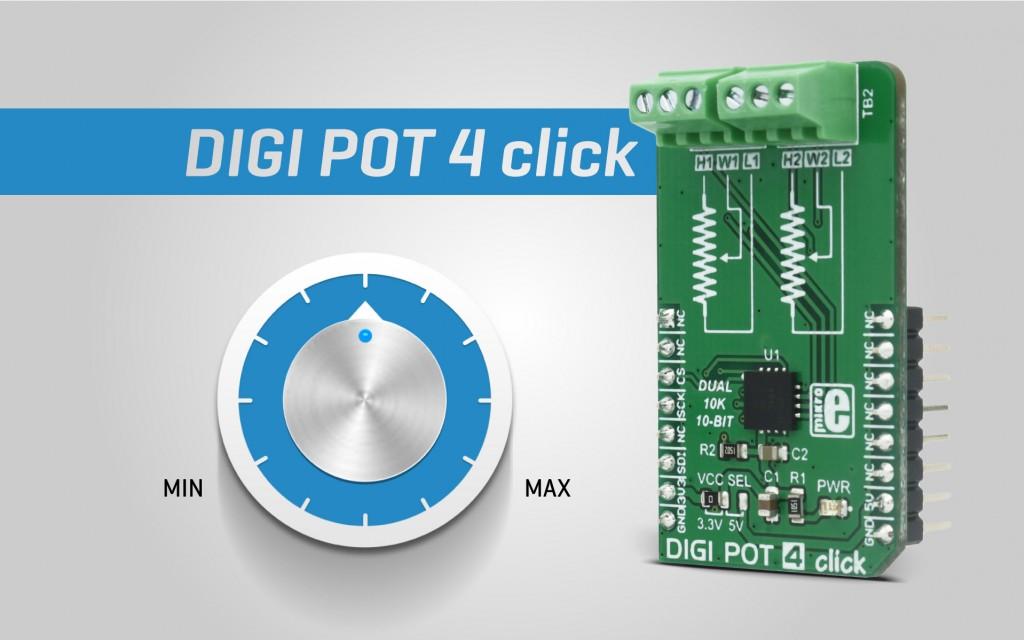 DIGI POT 4 click - digitally controlled dual potentiometer