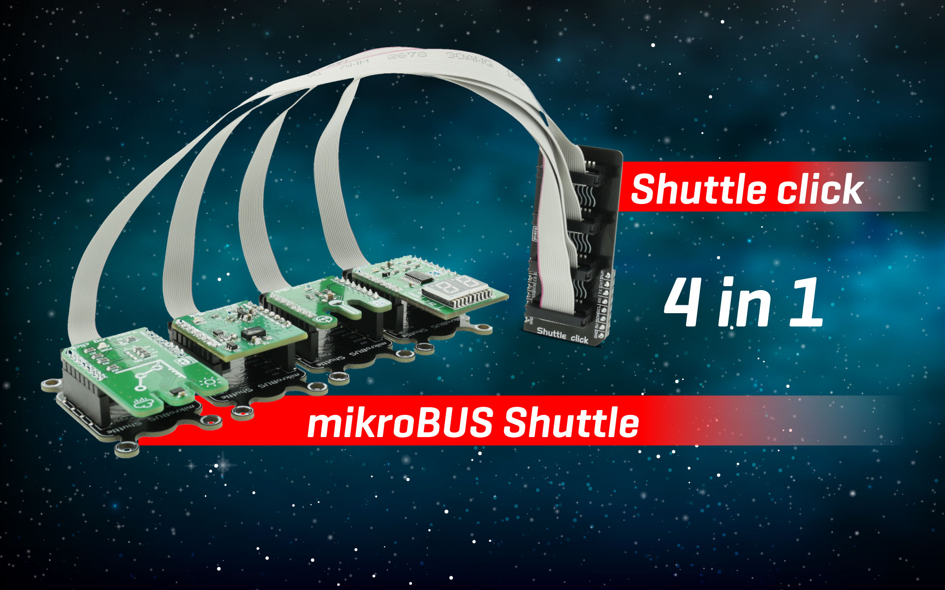 Shuttle click and mikroBUS Shuttle - Expanding connectivity with ease