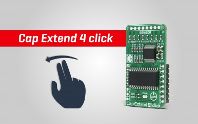 Cap Extend 4 click - touch activated applications made easy
