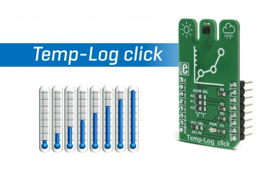 Temp-Log click - 8Kbit of EEPROM combined with temperature measurement