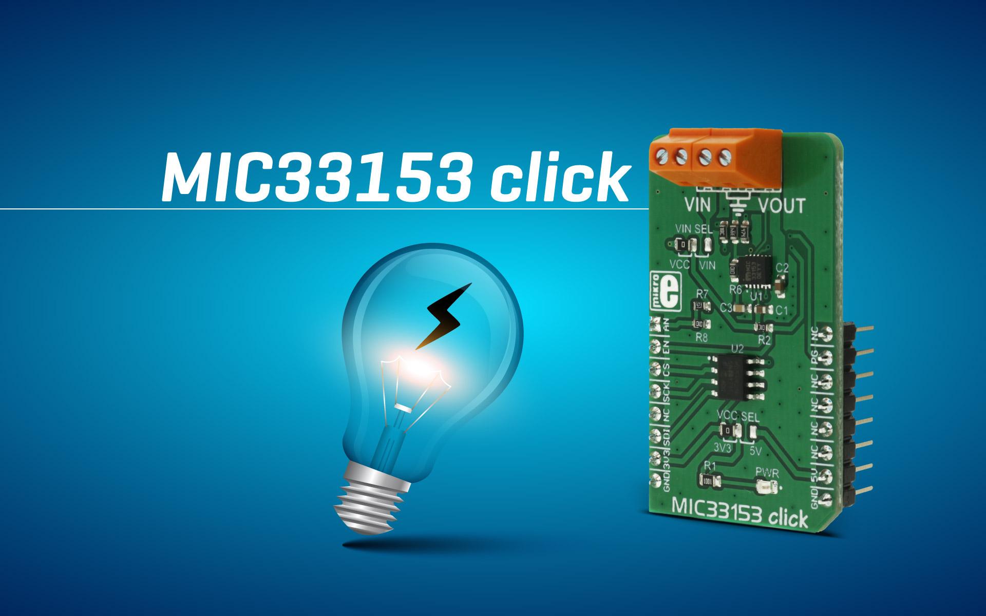 MIC33153 click - DC-DC adjustable step-down (buck) converter