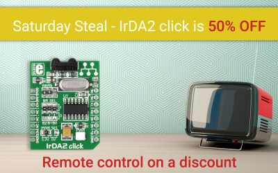 Saturday Steal - IrDA2 click 50% OFF - it's a great deal!
