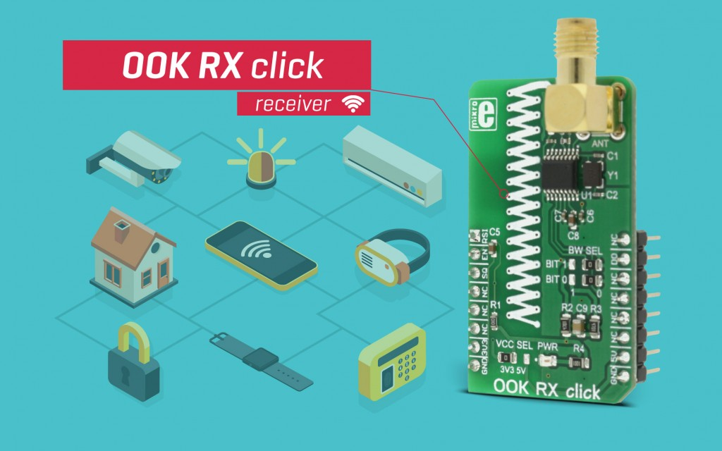 OOK RX click - wireless receiver for low-speed communication