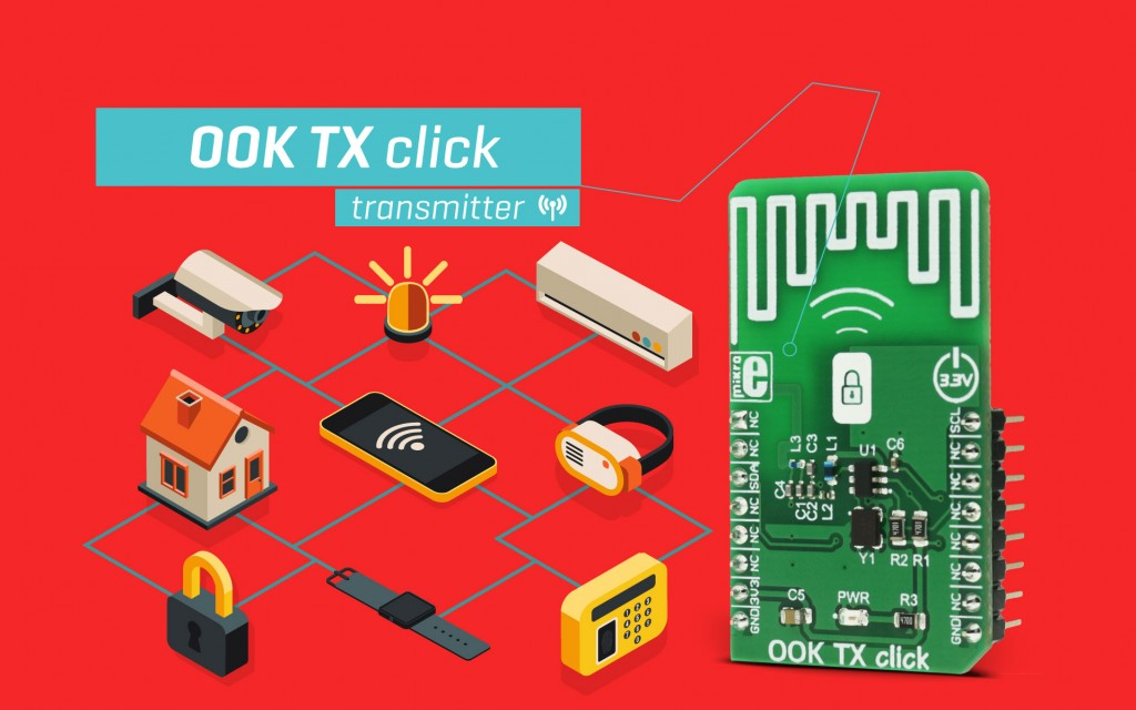 OOK TX click - a simple wireless transmitter