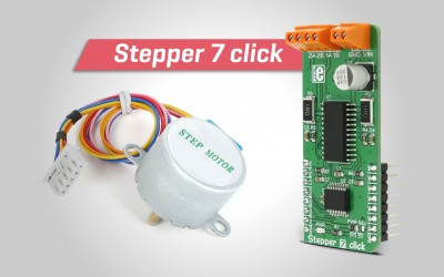 Stepper 7 click - high precision driver for step motors