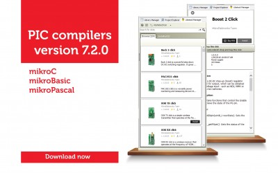 PIC compilers 7.2.0 - Libstock Manager is here!