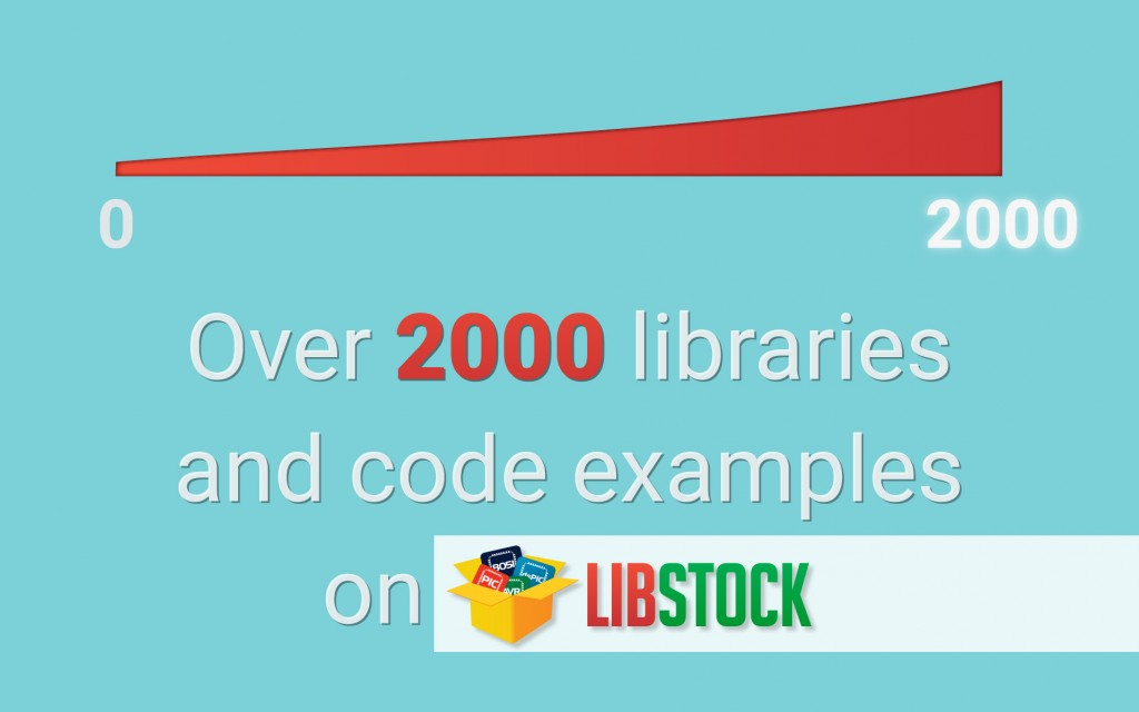 Over 2000 libraries and code examples on Libstock!