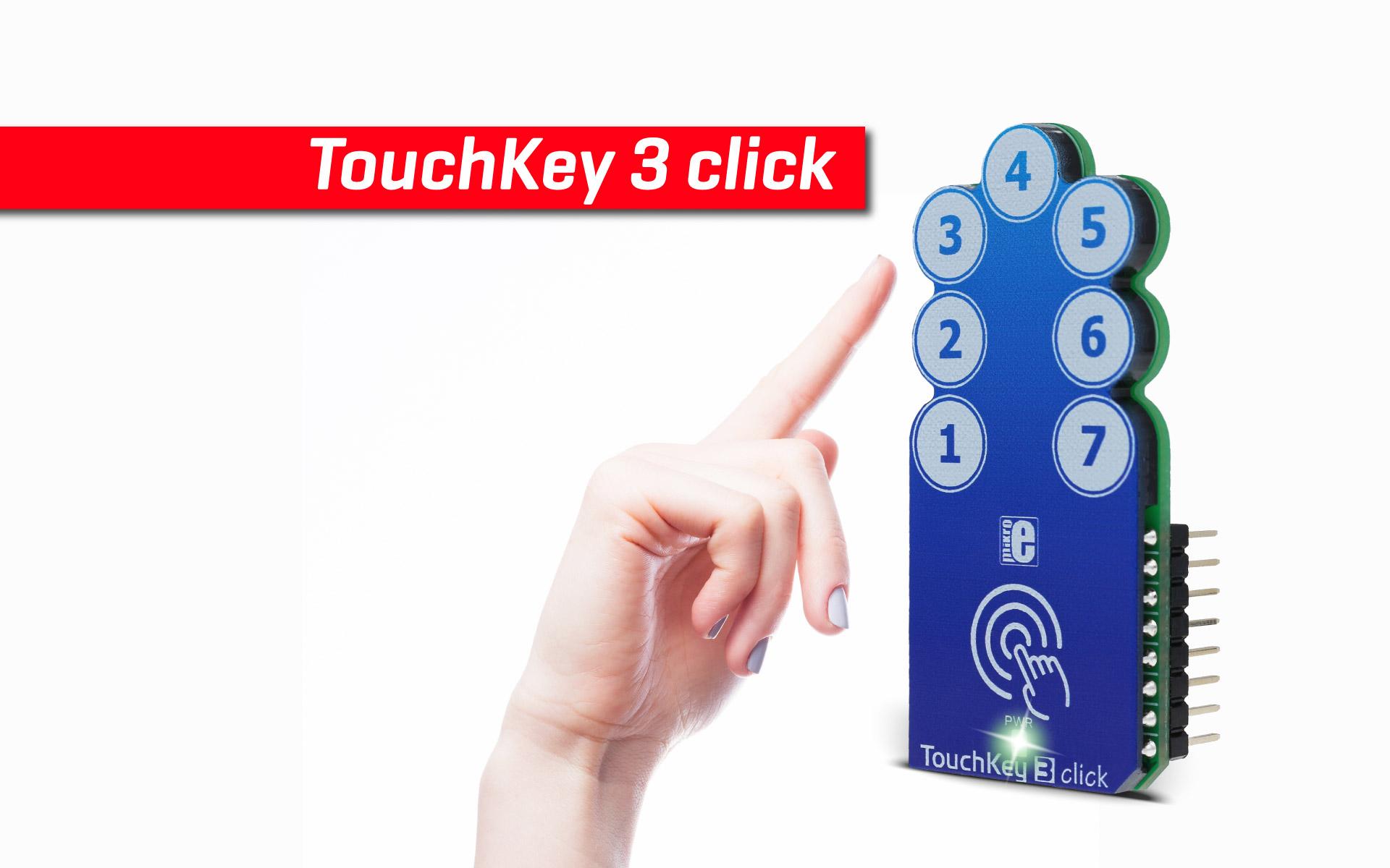 TouchKey 3 click - advanced capacitive sensors