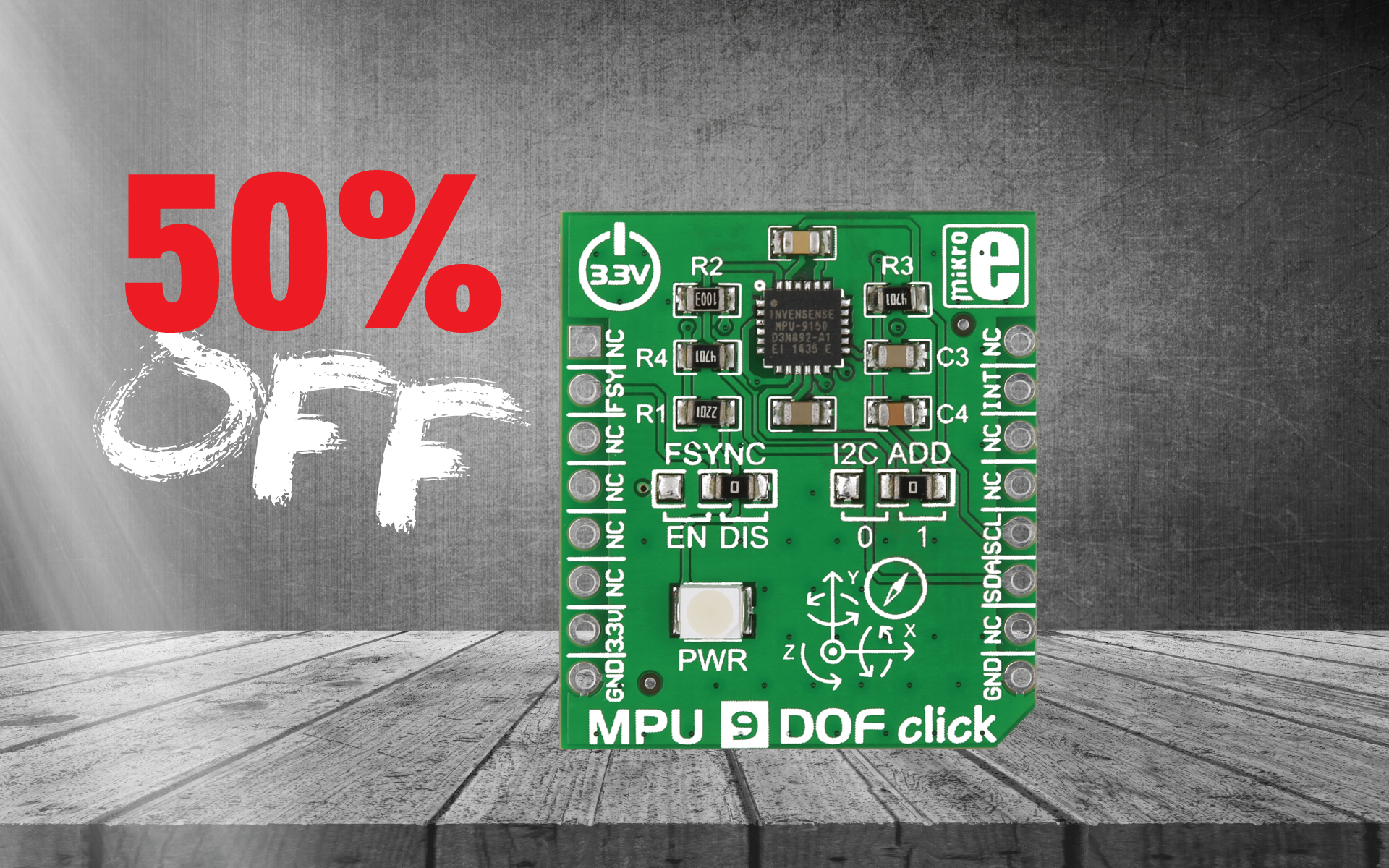 MPU 9DOF click 50% OFF - 9-axis motion tracking device