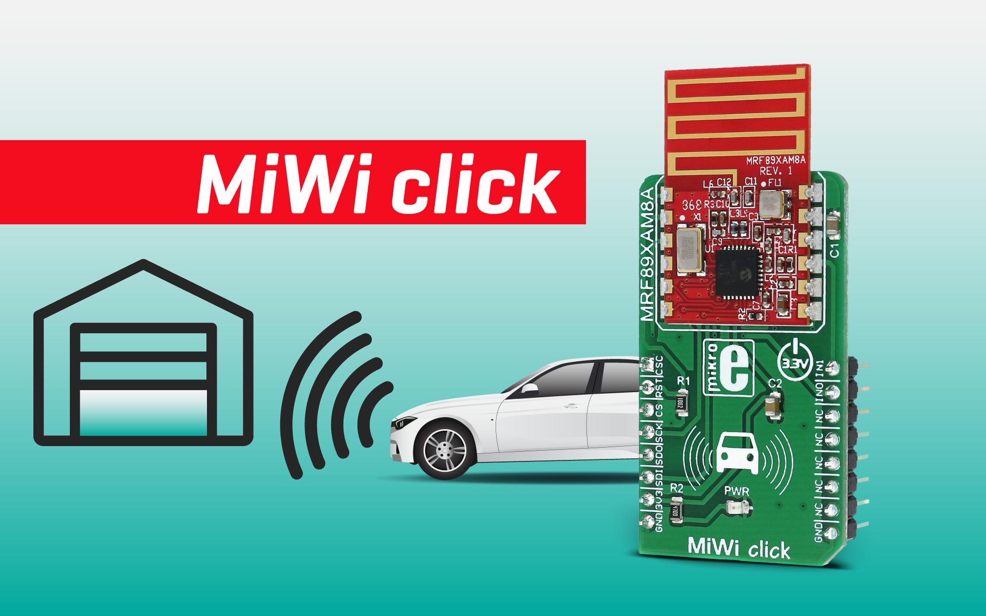 MiWi click - a sub-gigahertz radio transceiver