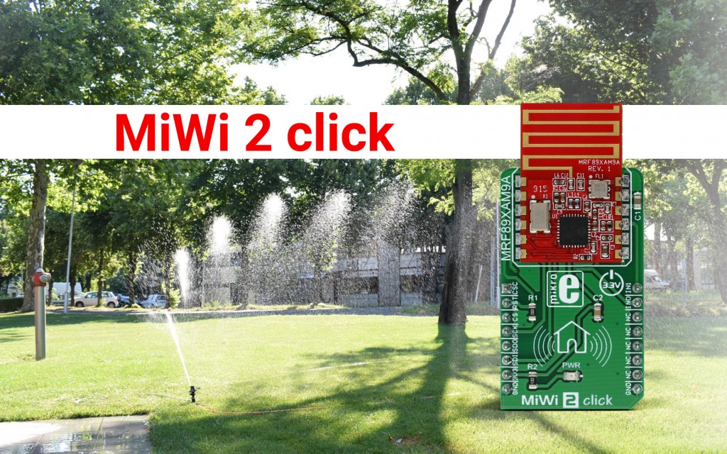 MiWi 2 click - exceptional reception sensitivity radio transceiver