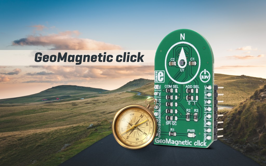 GeoMagnetic click - Three-axis geomagnetic sensor