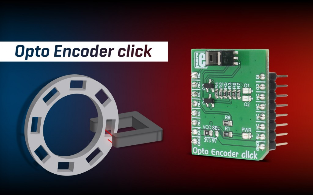 Opto Encoder click - detection of position, speed, and rotational angle