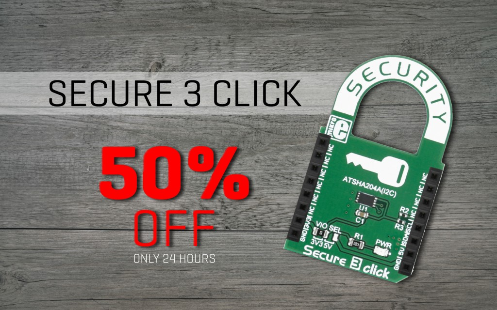 Secure 3 click - 50% OFF this Saturday