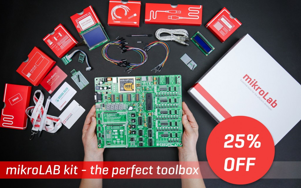 Complete development set - mikroLAB kits are 25% OFF!