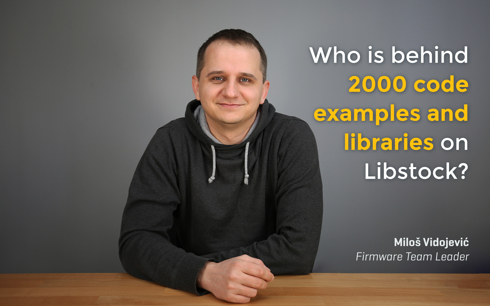 Over 2000 libraries and examples on Libstock - interview