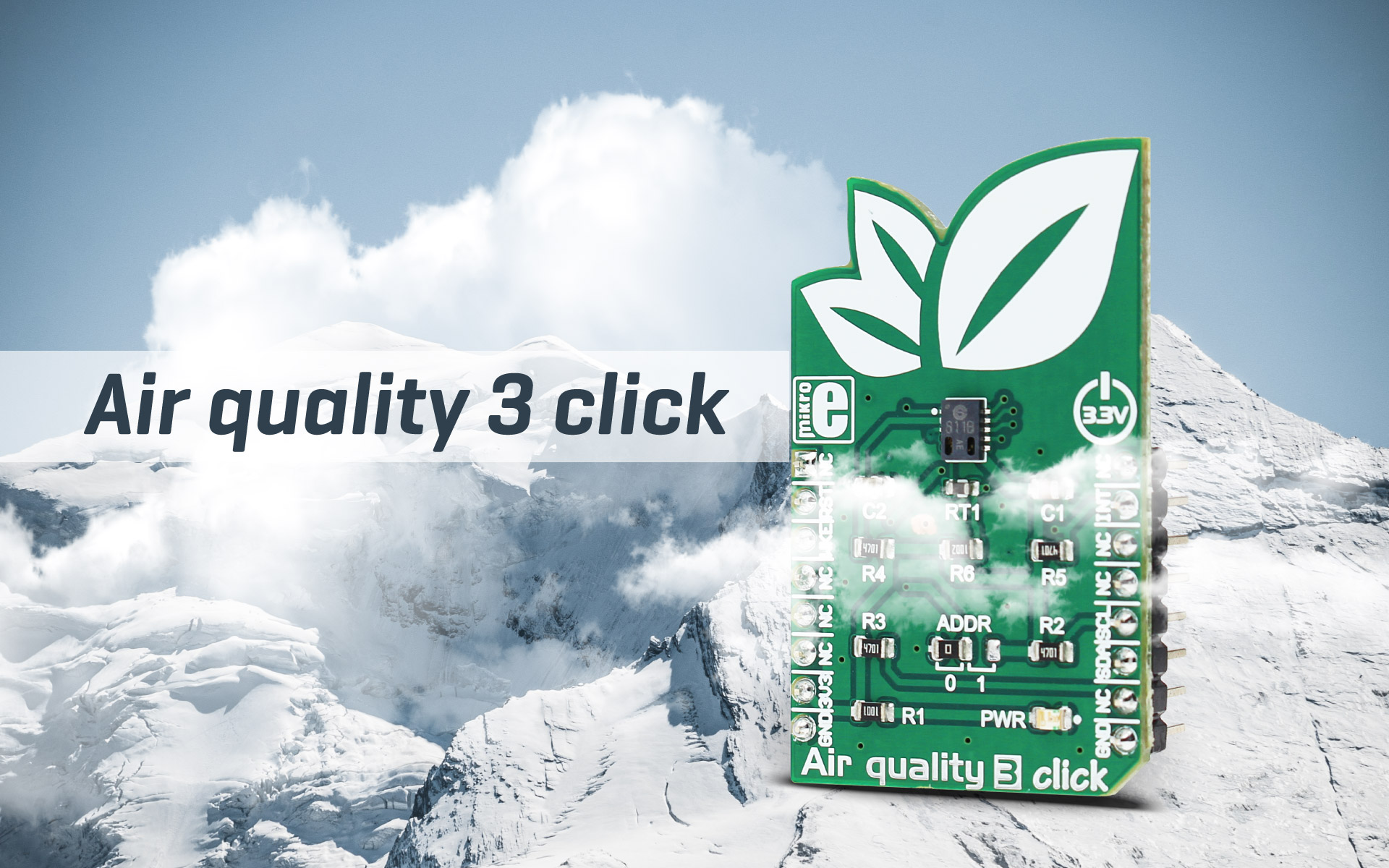 Air quality 3 click - precise indoor air quality measurement
