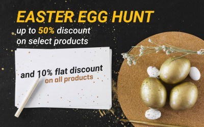 Easter offer - 10% OFF on everything with special discount on select products