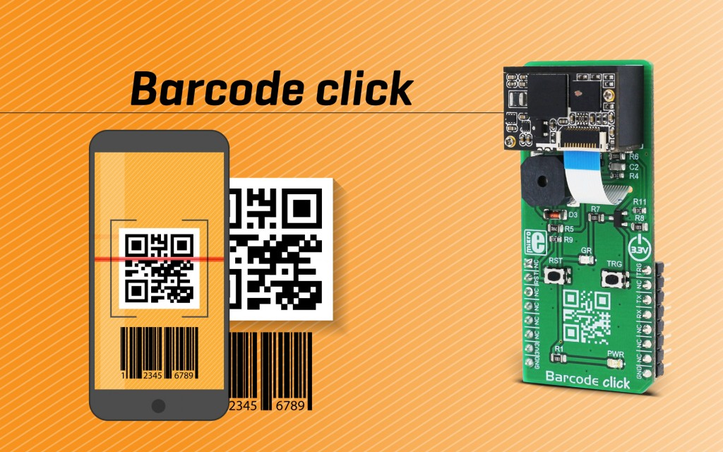 Barcode click - fast and easily configurable barcode scanner on a Click board™