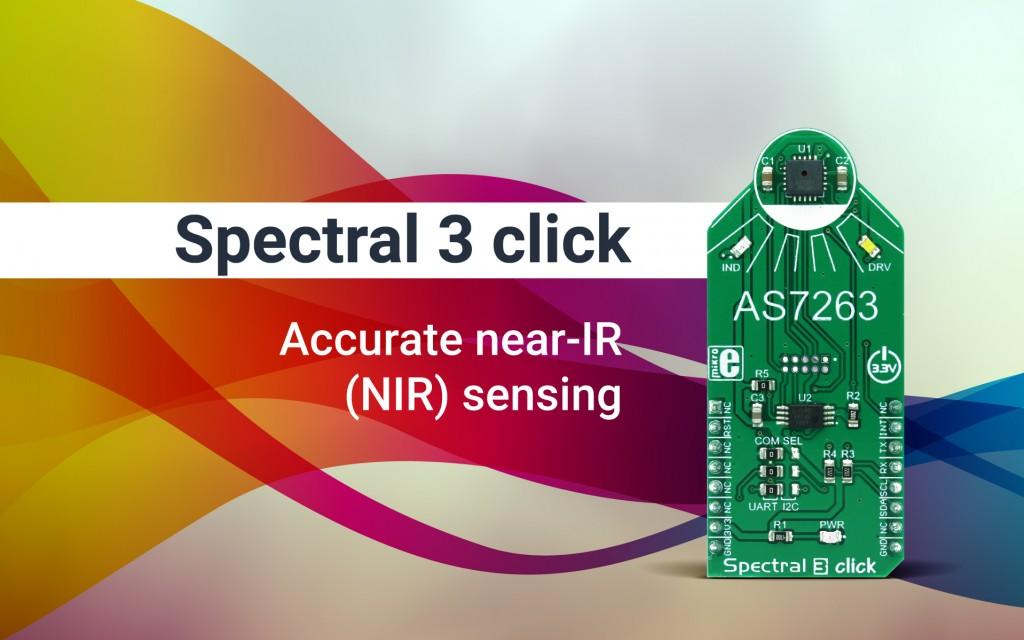 Spectral 3 click - multi-spectral sensing in the NIR wavelengths