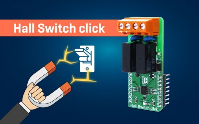 Hall Switch click - magnetic field activated dual-relay
