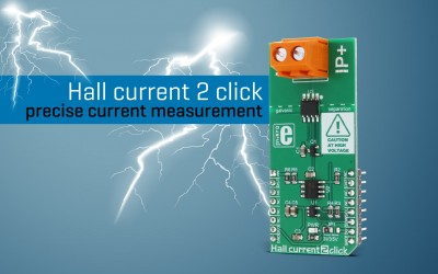 Hall Current 2 click - Accurate current measurment