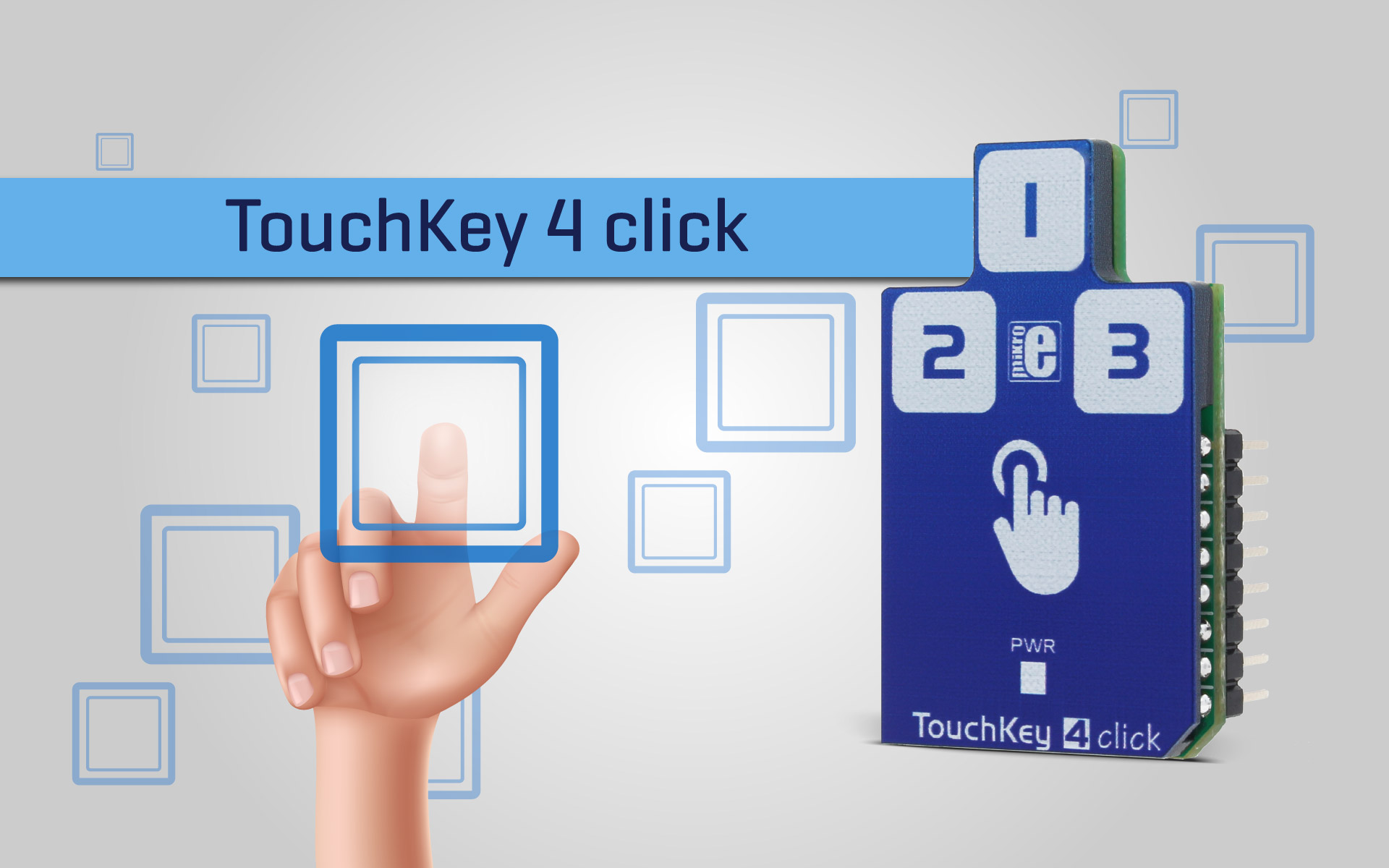 Touch Key 4 click - capacitive touch sensor Click™ board