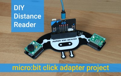 micro:bit click adapter -  DIY distance reader