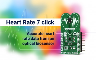 Heart Rate 7 click - monitor your heart with an optical biosensor