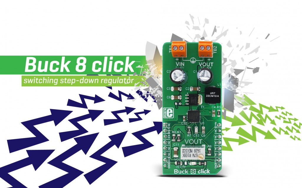 Buck 8 click - voltage in, voltage out