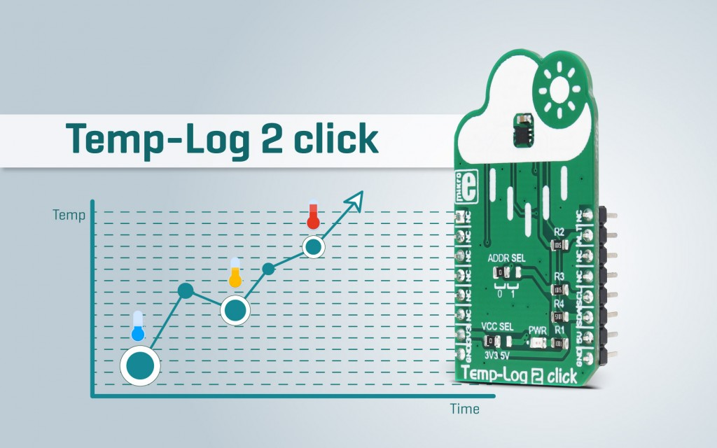 Temp-Log 2 click - accurate temperature measurement with EEPROM memory