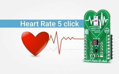 Heart Rate 5 click - oximeter and heart rate sensor