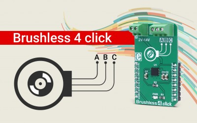 Brushless 4 click - 180° BLDC motor driver