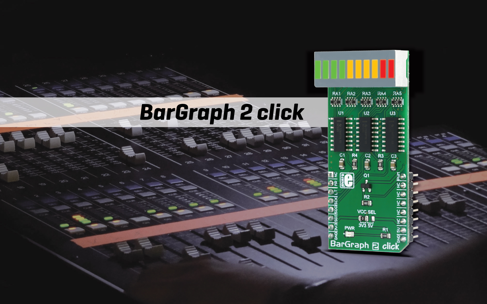 10-segment multicolor display - BarGraph 2 click