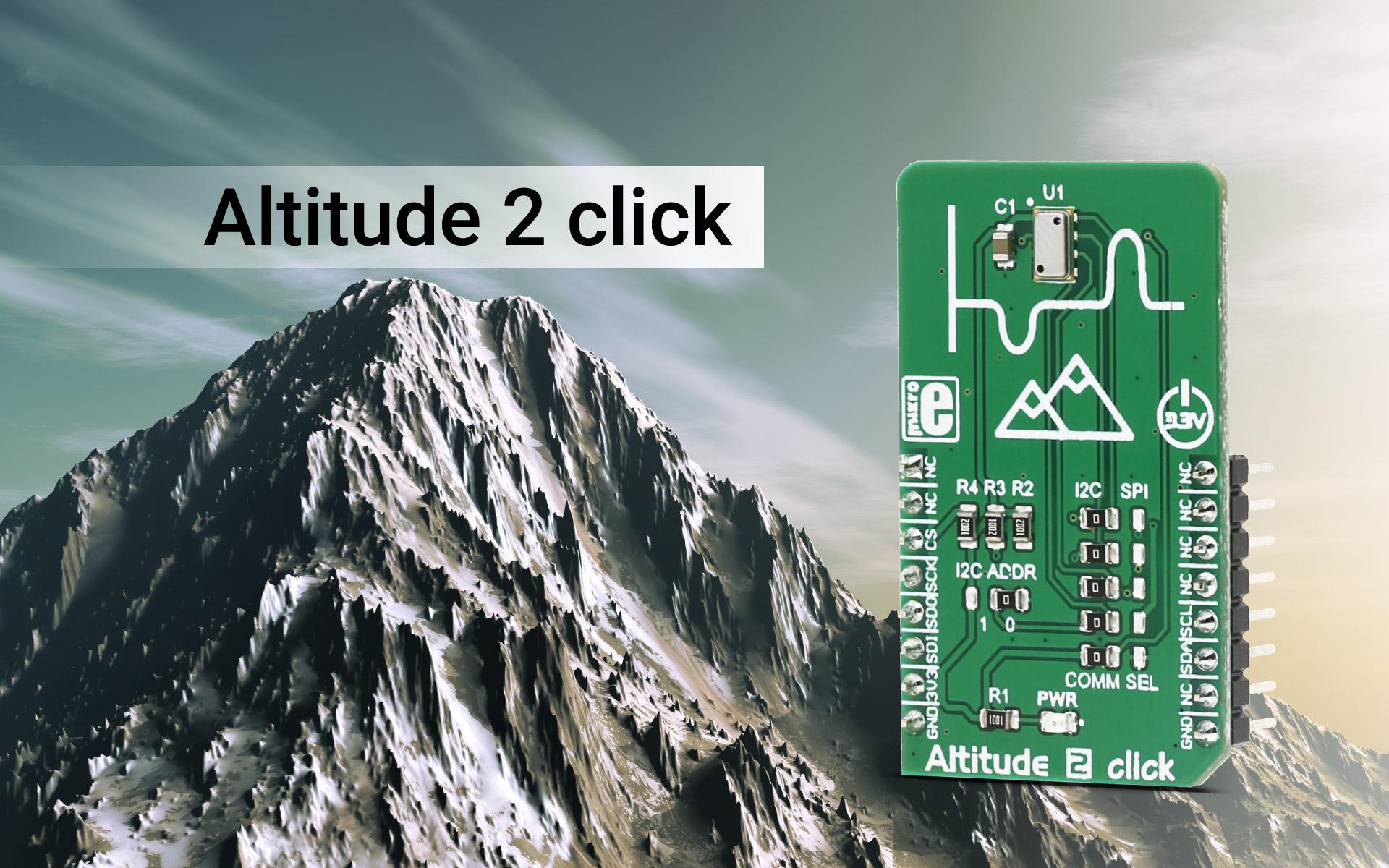 Barometric pressure sensor - Altitude 2 click