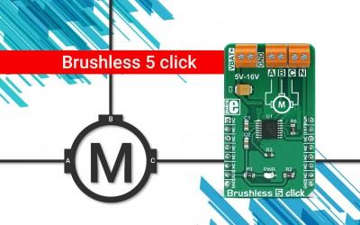 Brushless 5 click - 3 phase sensorless BLCD motor controller