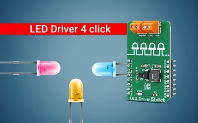 LED Driver 4 click - driving white LEDs up to 26V