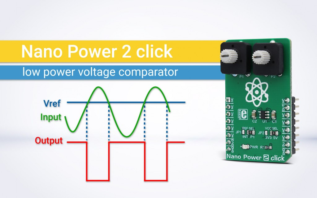 Nano Power 2 click - low power voltage comparator