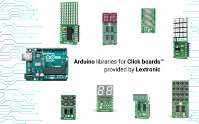 Arduino libraries for Click boards™ provided by Lextronic