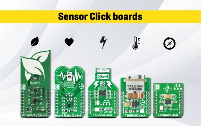 Sensor Click boards™ - Measure and quantify the world around you