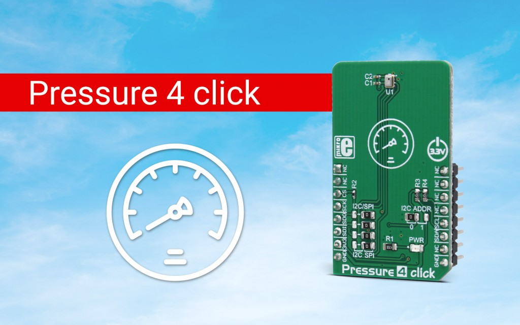 Absolute barometric pressure measurement - Pressure 4 click
